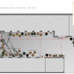 Entwurf für den Innenhof IRGW